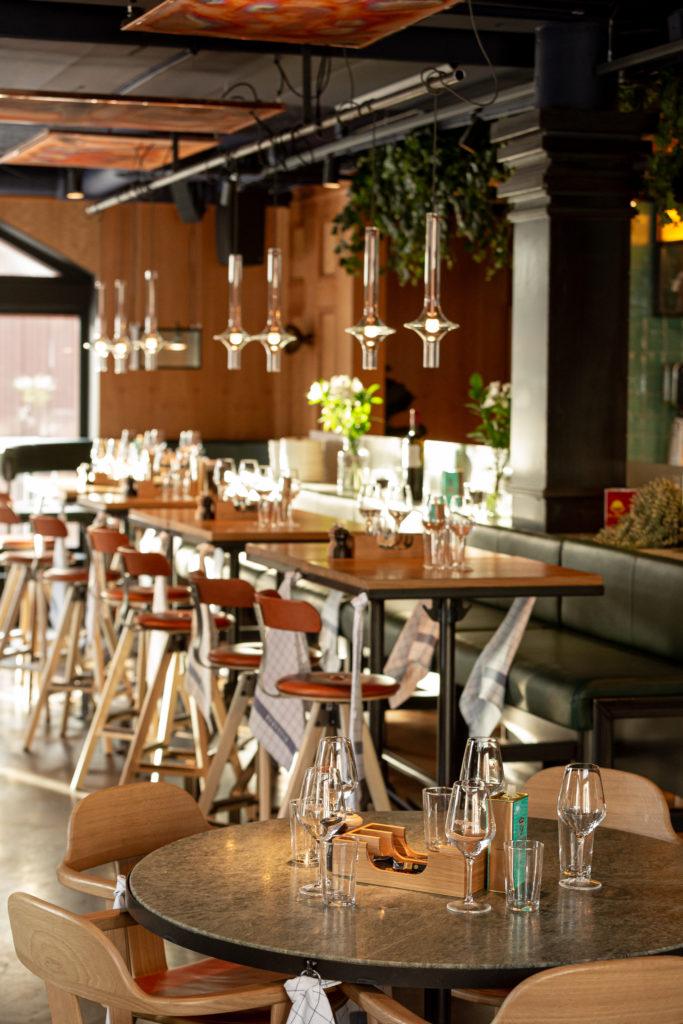 Restaurang Boqueria Åre bord lampor