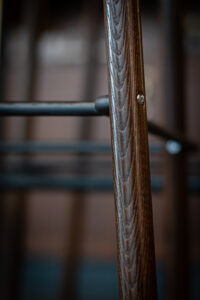 Stolsben Detaljbild Restaurang Gioia Lerch Träinredningar