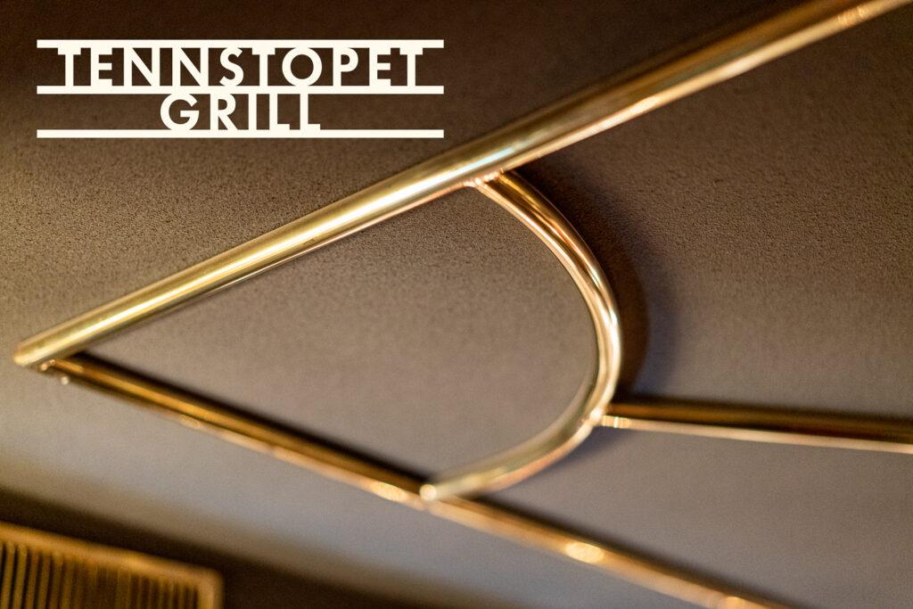 Tennstopet Grill takornament med logotyp